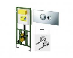 Инсталляция для подвесного унитаза Viega Eco Plus 660321 (хром глянец)