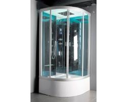 Душевая кабина Nautico - 9817 100х100 (матовое стекло, высокий поддон с гидромассажем)