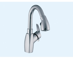 Смеситель для кухни с выдвижным изливом Еca Mix cubic 402108129
