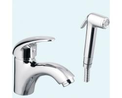 Смеситель для раковины с гигиеническим душем Еса Mix P 402110041