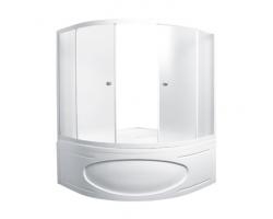 Душевая шторка на ванну 1-MarKа 150150 150х150 (белая, хром)