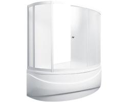 Душевая шторка на ванну 1-MarKа 150100 150х100 (белая, хром)