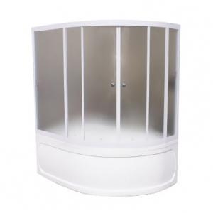Душевая шторка на ванну 1-MarKа 160100 160х100 (белая, хром)