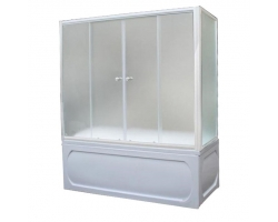 Душевая шторка на ванну 1-MarKа 160140 160х140 (белая, хром)