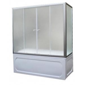 Душевая шторка на ванну 1-MarKа 170140 170х140 (белая, хром)