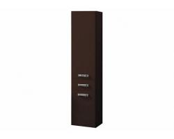 Шкаф-колонна Акватон Америна 34 см. 1A135203AM430 (тёмно-коричневая, с бельевой корзиной)
