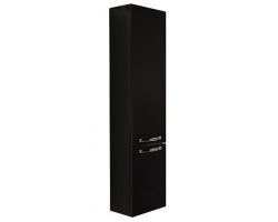 Шкаф-колонна Акватон Ария 34 см. 1A134403AA950 (чёрный глянец, подвесная, с бельевой корзиной)