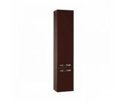 Шкаф-колонна Акватон Ария 34 см. 1A134403AA430 (тёмно-коричневая, подвесная, с бельевой корзиной)
