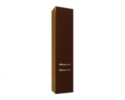 Шкаф-колонна Акватон Ария М 34 см. 1A124403AA430 (тёмно-коричневая, подвесная, с бельевой корзиной)
