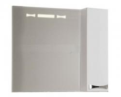 Зеркало-шкаф Акватон Диор 80 80 см. 1A168002DR01R (белое, правое)