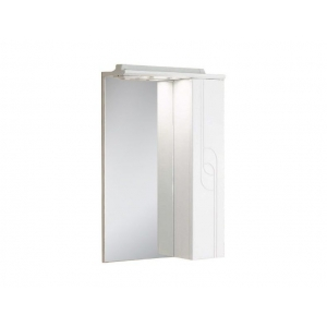 Зеркало-шкаф Акватон Панда 50 50 см. 1A007402PD01R (белое, правое)