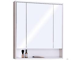 Зеркало-шкаф Акватон Рико 80 80 см. 1A215302RIB90 (белое-ясень фабрик)
