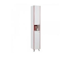 Шкаф-колонна Акватон Роко 32 см. 1A106903RO01L (белая-бордо, левая, напольная)