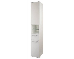 Шкаф-колонна Акватон Сайгон 26 см. 1A106303SA01R (правая, белая, подвесная)