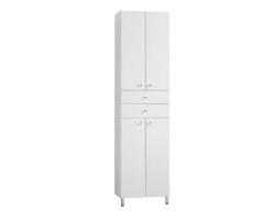 Шкаф-колонна Акватон Симпл 50 см. 1A122303SL010 (белая, двустворчатая, напольная)