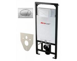 Инсталляция для подвесного унитаза AlcaPlast Sadromodul A101/1200+М071 (клавиша хром)