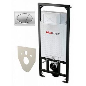 Инсталляция для подвесного унитаза AlcaPlast Sadromodul A101/1120+М071 (клавиша хром)