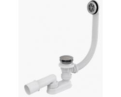 Слив-перелив для ванной AlcaPlast A505KM (автомат, внешние части пластик)