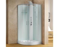 Душевая кабина Alvaro Banos Barcelona S90.20-V2 Blanco 90х90 (прозрачное стекло, низкий поддон, без крыши с гидромассажем)