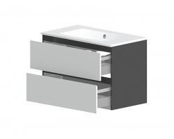 Тумба Астра-Форм Альфа 70 700х500 (белый глянец, два ящика)