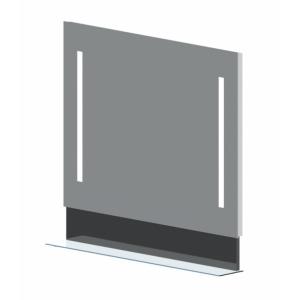 Зеркало Астра-Форм Альфа 90 880х833 (белый глянец, с полочкой)