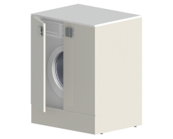 Нижний шкаф под стиральную машинку Астра-Форм Сити 50 680х500 мм. (белый глянец)