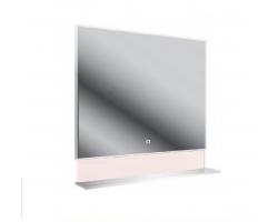 Зеркало универсальное с полочкой Астра-Форм 100 1000х813 (белый глянец)