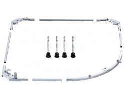 BETTE Металлическая рама с ножками для полукруглых поддонов 90х90см с артикулами 5440/5430/5429