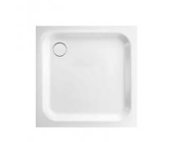 BETTE Supra Душевой поддон квадратный 100х100хh6,5см, D90 мм, с шумоизоляцией, цвет белый
