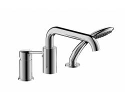 Смеситель для ванны на 3 отверстия Bravat Angel F5172217CP-1-RUS