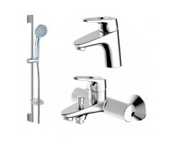 Комплект смесителей для ванной комнаты Bravat Drop-D F00312