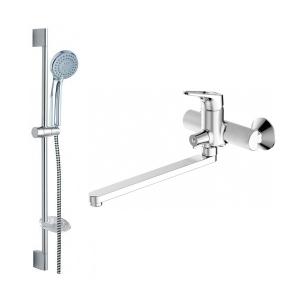 Комплект смесителей для ванной комнаты Bravat Drop-D F00413
