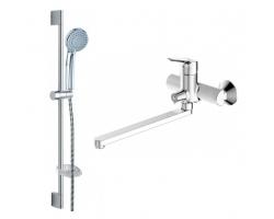 Комплект смесителей для ванной комнаты Bravat Drop F00409
