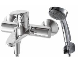 Смеситель для ванны с душевым комплектом Bravat Drop F64898C-B