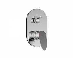Смеситель встраиваемый для ванны Bravat Drop P69190C-ENG (внешняя часть) (3-режим)