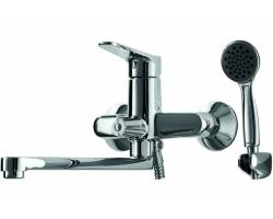 Смеситель для ванной с душевым комплектом Bravat Eco F6111147C-LB