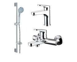 Комплект смесителей для ванной комнаты Bravat Eler F00450CP