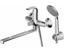 Смеситель для ванны с душевым комплектом Bravat Fit F6135188CP-LB-RUS