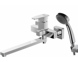 Смеситель для ванны с душевым комплектом Bravat Riffle F672106C-LB