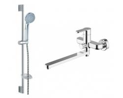 Комплект смесителей для ванной комнаты Bravat Stream F00411C