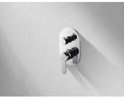 Смеситель встраиваемый для ванны Bravat Stream P69191C-RUS (внешняя часть) (3-режима)