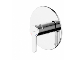Смеситель встраиваемый для ванны Bravat Stream PB83783CP-ENG (внешняя часть) (1-режим)
