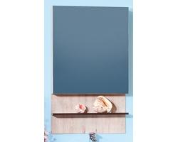 Зеркальный шкаф Бриклаер Карибы 60 (дуб кантри-венге)