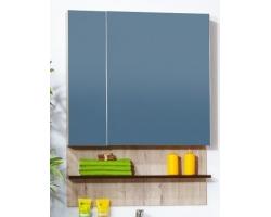 Зеркальный шкаф Бриклаер Карибы 75 (дуб кантри-венге)