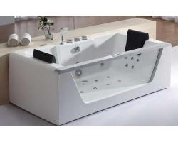 Ванна акриловая гидромассажная Eago AM196JDTS-1Z 180x80 (белая, двухместная)