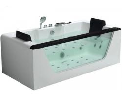 Ванна акриловая гидромассажная Eago AM196S 180x90 (белая, двухместная)