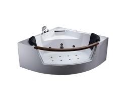 Ванна акриловая гидромассажная Eago AM197JDTS-1Z 150х150 (белая, двухместная)