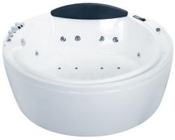 Ванна акриловая гидромассажная Eago AM210S Ø180 (белая, двухместная)