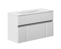 Тумба Edelform Amata 120 119 см. 1-823-00-PR120 (белая, подвесная, две двери, два ящика)