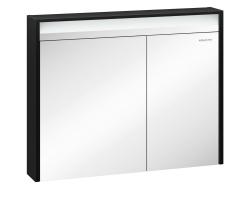 Зеркало-шкаф Edelform Carino 100 94 см. 2-750-43-S (чёрное-эбони)